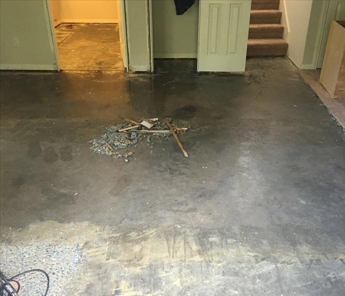 Water Damage in Church Basement After